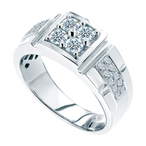 Ming Seng diamond platinum men ring