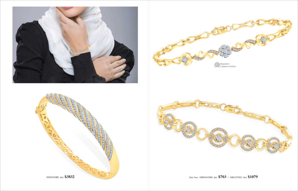 Ming Seng diamond bracelets bangle